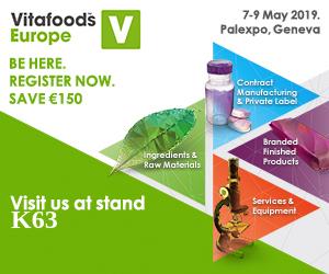 Vitafoods Europe 7-9 mai 2019