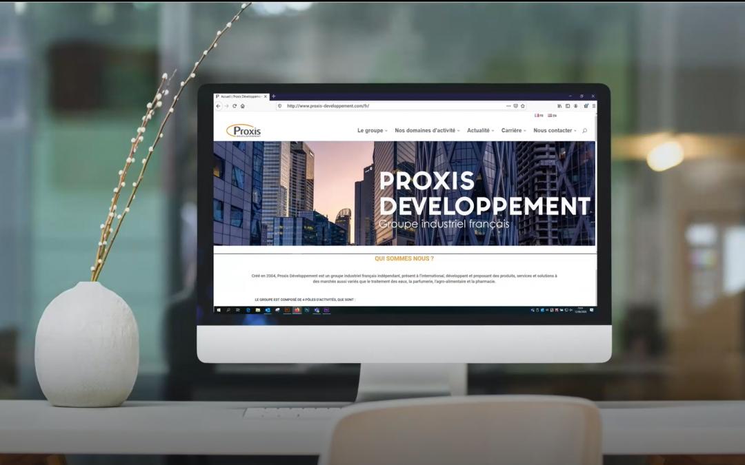 Lancement du nouveau site web de notre groupe PROXIS DEVELOPPEMENT !